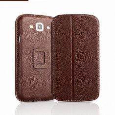 Husa Samsung Galaxy Mega 5.8 i9150 Executive Piele Naturala by Yoobao Originala Brown, Maro, Toc