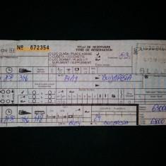 Bilet de tren - TITLU DE REZERVARE BLAJ - BUDAPESTA (APRILIE 2001)