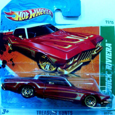 HOT WHEELS-TREASURE HUNT-BUICK RIVIERA ++2501 LICITATII !! - Macheta auto Hot Wheels, 1:64