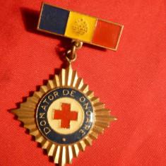 Insigna Titlu Donator de Onoare , h= 4,5 cm