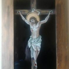 Icoana pe sticla - Iisus pe cruce