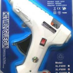 Pistol de lipit cu silicon cu buton de on off + 1 baton siliocn GRATIS