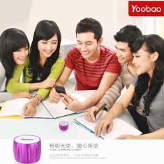 Boxa Difuzor cu Bluetooth Apple iPhone Samsung HTC Nokia SONY by Yoobao Originala Purple - Boxa portabila Yoobao, Conectivitate bluetooth: 1