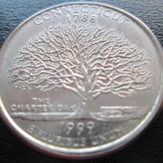 (72) SUA USA QUARTER DOLLAR 1999 CONNECTICUT MONETARIA PHILADELPHIA LITERA
