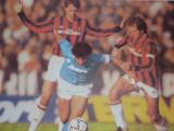 Foto jucatorii de fotbal MARADONA(NAPOLI), VAN BASTEN si BARESI(AC MILAN)