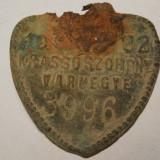 PLĂCUȚĂ VECHE ÎNSERIATĂ AUSTRO-UNGARĂ: KRASSOSZORNEY VARMEGYE ADICĂ JUD. CARAȘ! - Arheologie