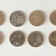 ROMANIA - Lot 4 monede de 50 bani / 2008 - 2012. aUNC / UNC. - Moneda Romania