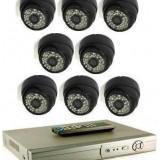 Sistem supraveghere 8 camere 700 tvl tip dome cu DVR 8 canale LAN - Camera CCTV