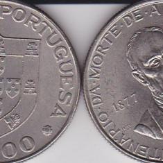 PORTUGALIA 25 ESCUDOS 1977 100th Anniversary - Death of Alexandre Herculano, Europa