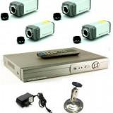 Sistem supraveghere 4 camere 700 tvl tip box cu DVR 4 canale LAN - Camera CCTV