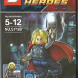Erou THOR tip lego, jucarie constructiva, super heroes - Set de constructie