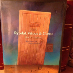 TRIO RYPDAL, VITOUS & GURTU - LIVE IN CONCERT(1994/TDK) - JAZZ - DVD NOU/SIGILAT - Muzica Rock Altele