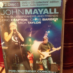 JOHN MAYALL & FRIENDS -70TH BIRTHDAY(EAGLE MUSIC/2004) -SET DVD+CD- NOU/SIGILAT - Muzica Rock