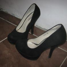 Pantofi negri - Pantof dama Yohji Yamamoto, Culoare: Negru, Marime: 38, Negru