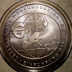 5.145 GERMANIA MONEDA EURO 10 EURO 2002 F XF/AUNC ARGINT .925/18g, Europa