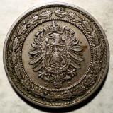 E.404 GERMANIA DEUTSCHES REICH 20 PFENNIG 1888 D, Europa, Cupru-Nichel