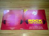 THE CHART SHOW - ROCK THE NATION (2lp, 2 viniluri, COMPILATIE KISS WHITESNAKE, MARILLION, FOREIGNET etc) (1988,dover records,Made in UK), VINIL
