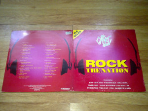 THE CHART SHOW - ROCK THE NATION (2lp, 2 viniluri, COMPILATIE KISS WHITESNAKE, MARILLION, FOREIGNET etc) (1988,dover records,Made in UK)