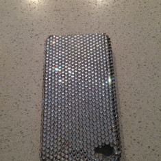 Husa / capac spate iPhone 4 Swarovski / Swarowski. Crystal ALB - Husa Telefon Apple