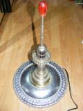 FAR MARITIM,VECHI FAR MARINARESC -electrificat: BRONZ/ALAMA  CROMAT -50 cm.VECHI FAR MARITIM  SI FRUVIAL,mecanism mecanic  tip caseta muzica