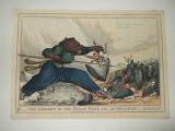 Gravura color Razboiul ruso - turc 1828 - 1829 Coborarea marelui urs, Istorice, Fresca, Realism