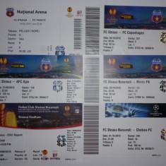 Lot bilete meciuri fotbal STEAUA Bucuresti in Cupele Europene