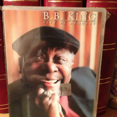 B.B. KING - LIVE BY REQUEST (2003/MCA MUSIC) - DVD cu MUZICA BLUES- NOU/SIGILAT - Muzica Rock universal records