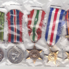 bnk md Marea Britanie - grup 5 miniaturi decoratii militare WW II