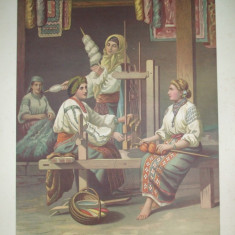 Litografie Color Carol Pop de Szathmary Dimbovita tiparita in atelierul artistului 1882 Bucuresti