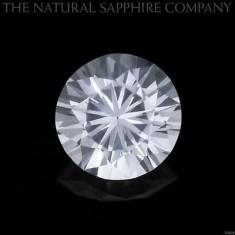 SAFIRE NATURALE ALBE, PERFECTE, SLEFUITE DIAMANT-6MM