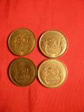 Set Monede 50 Centi 1931 ,1932 1938 ,1939 Franta,bronz ,cal.F.Buna, Europa