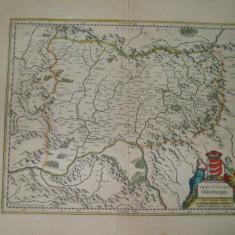 Harta color Transilvania Siebenburgen Johan Blau Amsterdam 1647 018