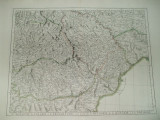 Harta color Moldova Valahia Transilvania Bulgaria Ungaria Santini Venetia 1777
