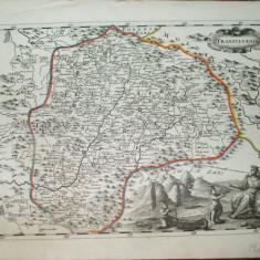 Harta color Transilvania Transylvania Johan Andreas Pfeffel Augsburg 1730 033