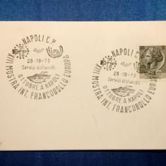 Expozitia Francobollo Europa-1973stampila speciala, timbru Republica Italiana