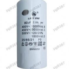 Condensator pornire motor 80uF-450V - 327127