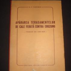 B. V. PASCENCO - APARAREA TERASAMENTELOR DE CALE FERATA CONTRA EROZIUNII - Carti Mecanica