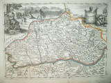 Harta color Valahia Walachia  Johan Andreas Pfeffel Augsburg 1730 026