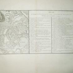 Planul expeditiei Generalului Weissman de atacare a flotei turcesti aproape de Tulcea P. Tardieu Paris 1780 - Pictor roman