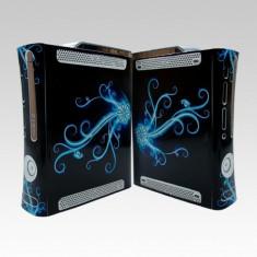Skin sticker plastic / folie GLOWING BLUE pentru XBOX 360 fat, Huse si skin-uri