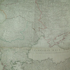 Harta Rusia Marea Neagra Moldova Ucraina Polonia Valahia Marea Baltica F. A. Schrambl Viena 1788
