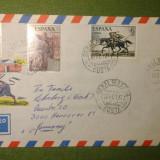 Plic circulat 4 timbre - Malaga - Benalmadena Spania spre Germania - 1977