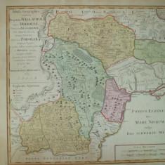 Harta color Valahia Moldova Basarabia Podolia Marea Neagra  Homann 1769 027