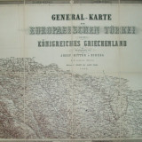 Harta generala a Turciei europene si a regatului Greciei J. Scheda 1869