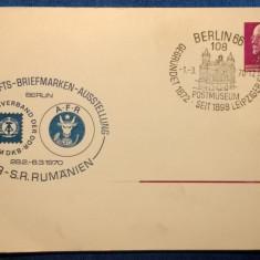 DDR-S.R. Rumanien-1970-stampila speciala, timbru Deutsche Demokratische Republik