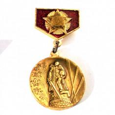 INSIGNA RUSIA URSS, DECORATIE, MEDALIE, MONUMENTUL VICTORIEI, 57 x 30 mm **, Europa