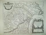 Harta  Descrierea Principatelor Moldova si Valahia G. da Vignola Roma 1686 021