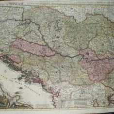 Harta color Teatrul de razboi Ungaria  Transilvania Valahia Moldova 1726 028