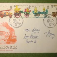 Fire Service Serie -FDC- 27.04.1974 - Bureau Edinburgh - Prima zi