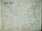 Harta Valahia Serbia Bulgaria Romania G. Mercator Amsterdam 1589
